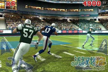 体育运动游戏:橄榄球竞赛NFL Rivals 劲爆橄榄球4