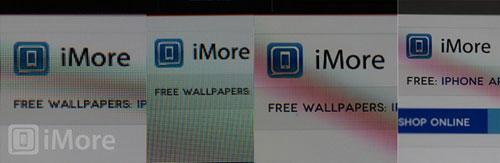 四款iOS设备体现出的屏幕效果对比