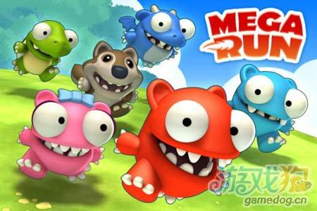 可爱卡通跑酷游戏:非常跳跃Mega Run 就是爱奔跑1
