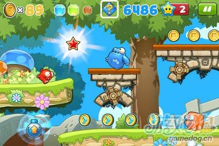 可爱卡通跑酷游戏:非常跳跃Mega Run 就是爱奔跑2