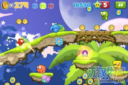 可爱卡通跑酷游戏:非常跳跃Mega Run 就是爱奔跑4