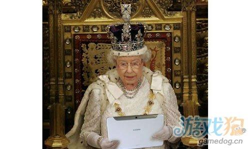 英女王伊丽莎白二世代言Galaxy Note 10.1