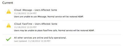 苹果iMessage和FaceTime服务再一次的罢工