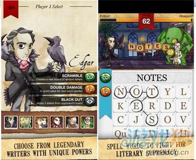 GameFly首款字谜游戏Writer Rumble已上架Android2