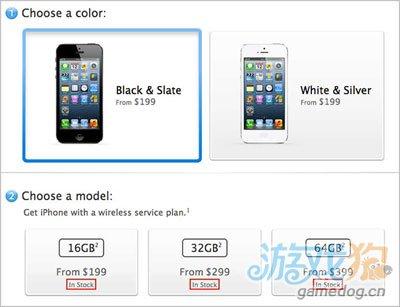多个国家苹果在线商店iPhone 5显示 有现货