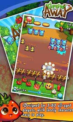 燃烧的蔬菜Grow away:弹弓休闲游戏2