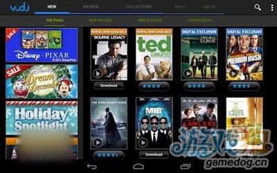 Vudu为安卓平板Xbox 360提供1080p电影服务