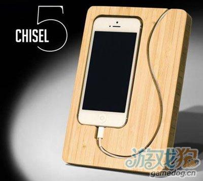 竹制iPhone 5充电底座 新鲜玩意欣赏介绍