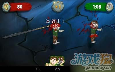休闲游戏:切僵尸Zombie Swipeout 重口味版切西瓜2