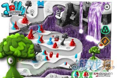 超可爱塔防游戏:果冻防御 果冻星球上演红蓝大战4