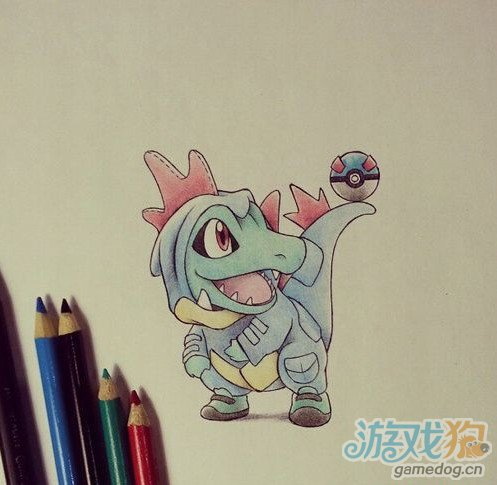 国外玩家绘制了一些非常可爱的《口袋妖怪》萌物宠物精灵的插图,这些