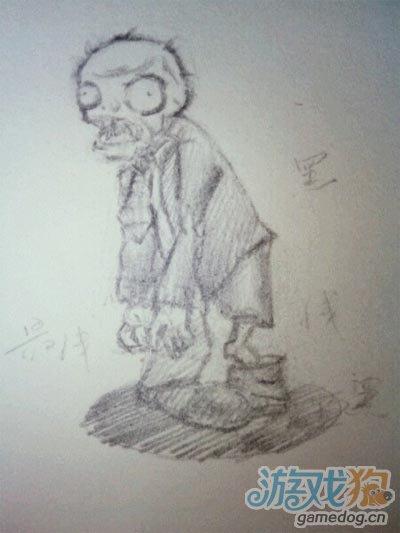 植物大战僵尸玩家铅笔手绘欣赏
