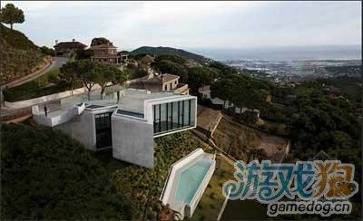 我的世界现代感别野存档山坡上的房屋