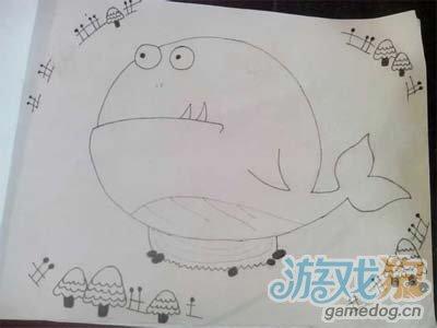 保卫萝卜小怪物宝宝手绘素描图片