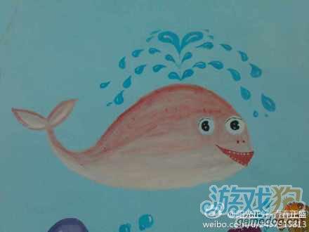 保卫萝卜深海巨鲸手绘欣赏1