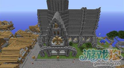 我的世界城堡作品规模超大