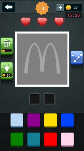 疯狂猜图周末也疯狂两种种颜色答案麦当劳