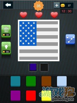 疯狂猜图周末也疯狂两种颜色答案美国国旗1