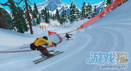 3D竞速类游戏:滑雪追逐赛年底登安卓2