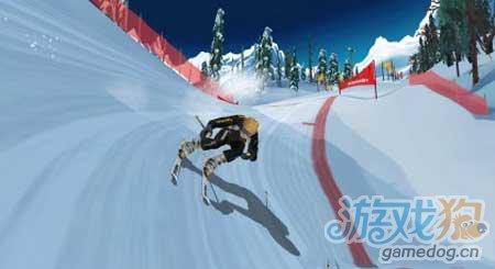 3D竞速类游戏:滑雪追逐赛年底登安卓1