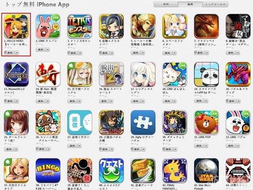 Hello Hero登顶日本App免费榜首 国服即将发布1