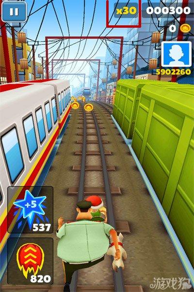 地鐵跑酷玩家獲取高分的小技巧1