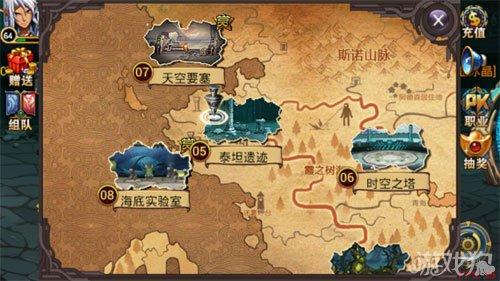 时空猎人泰坦遗迹世界地图攻略图片