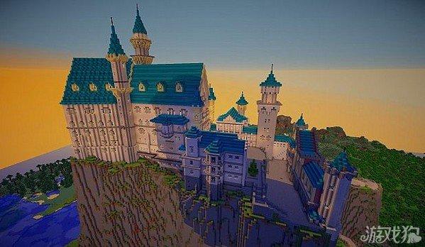 我的世界建筑物之新天鹅堡;