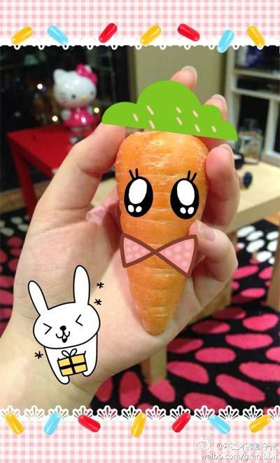 胡萝卜的创意手工制作图片