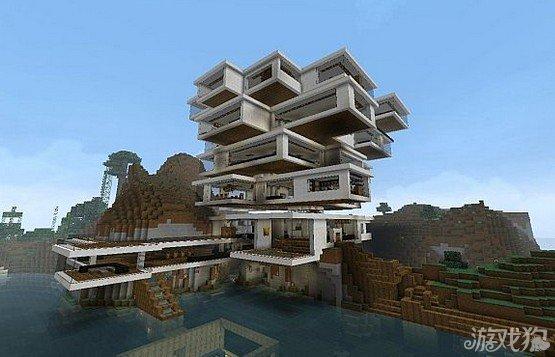 我的世界抽象现代别墅造型新颖