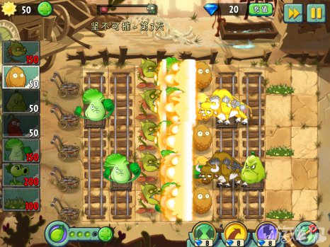 植物大战僵尸2狂野西部坚不可摧3攻略4