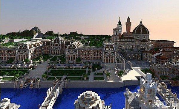 我的世界五彩之城大型建筑群分享图片