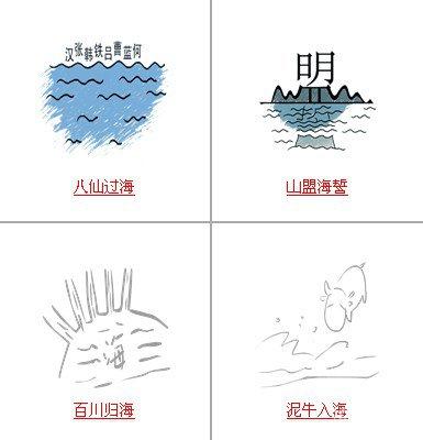 疯狂猜成语中所有关卡中和海有关的成语答案2