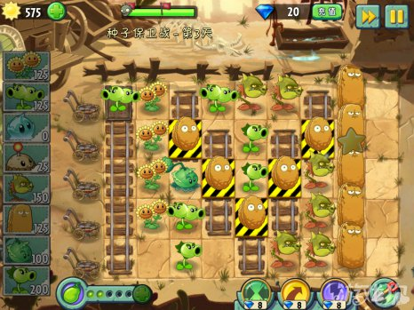 植物大战僵尸2中文版狂野西部种子保卫战第3天攻略13