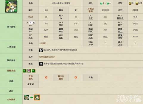 龍族拼圖綠聖的豐麗神・芙蕾雅寵物圖鑑數據