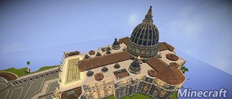我的世界空中的圣彼得大教堂