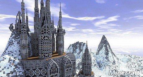 我的世界雪华城堡雪地中的圣地