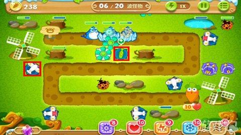 保卫萝卜2第27关攻略 水晶萝卜需打两次7