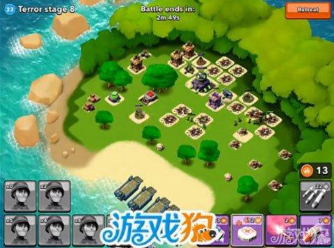 Boom Beach8級博士島全部屌絲兵進攻視頻1