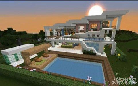 我的世界建筑教学视频现代风格别墅