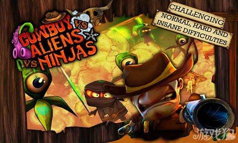 牛仔与忍者大战外星人上架双平台 暴力射击游戏1