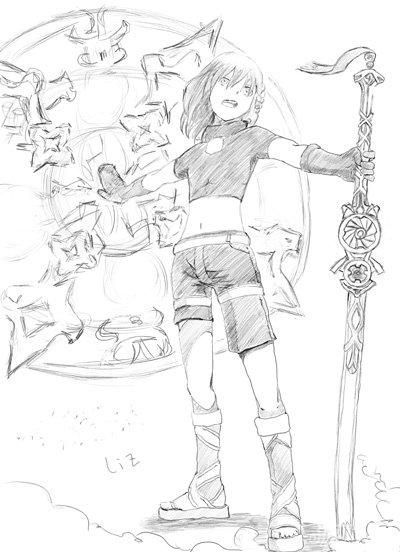 百万亚瑟王魔法之派亚瑟七星卡手绘