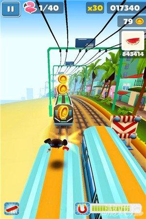 地鐵跑酷邁阿密棕櫚海灘場景欣賞