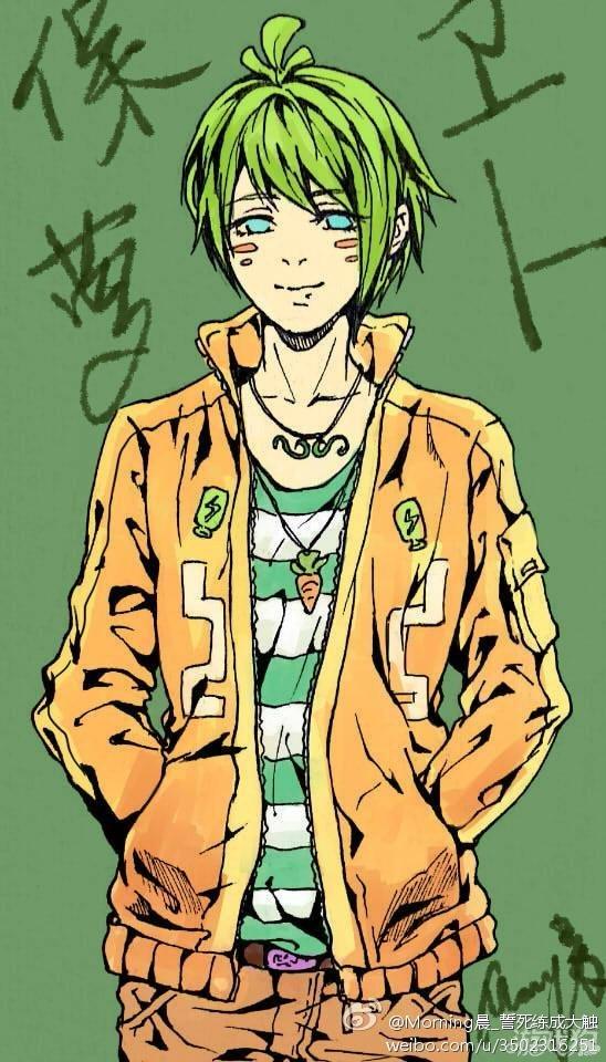 保卫萝卜2版拟人手绘 绿发的青春少年
