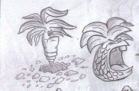 植物大战僵尸2玩家自创铅笔手绘新植物僵尸_游戏狗2