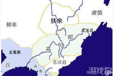 朝鲜半岛三国地图