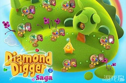 King本月初在Facebook低调发布了新款游戏《Diamond Digger Saga》