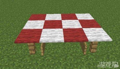 这里用木栅栏撑整个3x3的桌子.