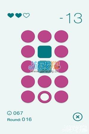 空心圆会变成实心圆,只有再一次划过才能变成方形,就是这么简单的图形