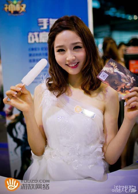 游族网络2014CJ精彩回顾清纯ShowGirl图赏性感手机屏保嘴唇图片
